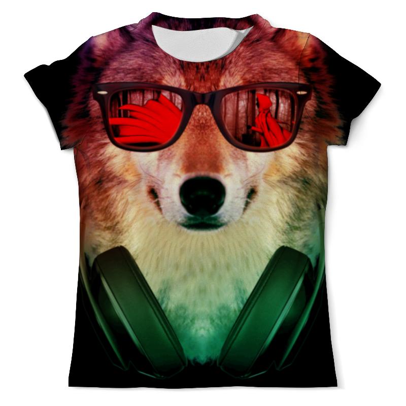 Футболка с полной запечаткой (мужская) Printio Волк в очках футболка с полной запечаткой мужская printio красная шапочка и серый волк 3