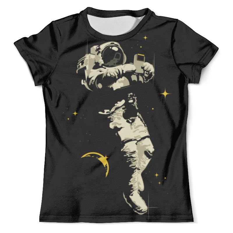 Футболка с полной запечаткой (мужская) Printio Космический геймер цена и фото