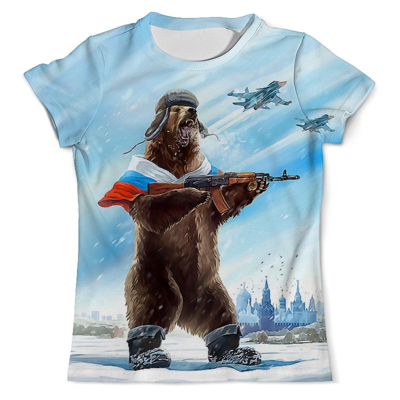 Футболка с полной запечаткой (мужская) Printio Russia bear футболка с полной запечаткой мужская printio football russia