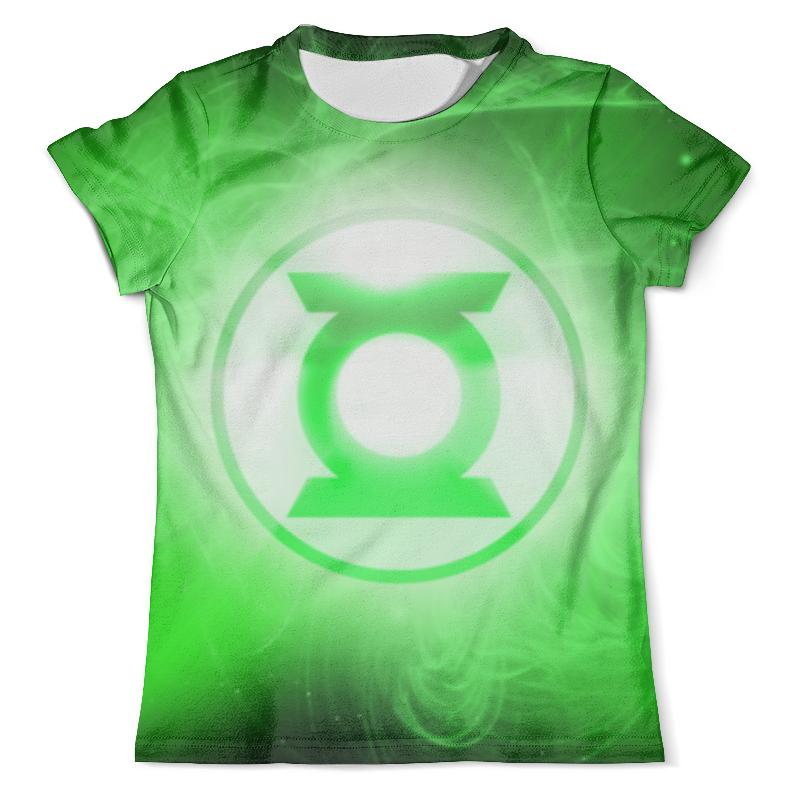 Футболка с полной запечаткой (мужская) Printio Зелёный фонарь (green lantern) green lantern by geoff johns omnibus volume 3