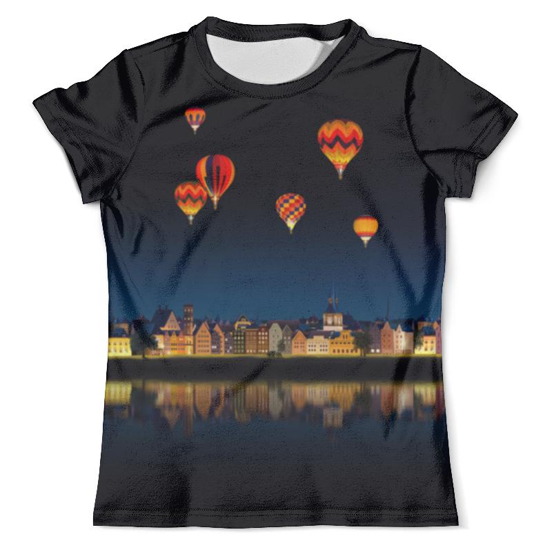 Футболка с полной запечаткой (мужская) Printio Ночной городок футболка с полной запечаткой женская printio воздушные шары