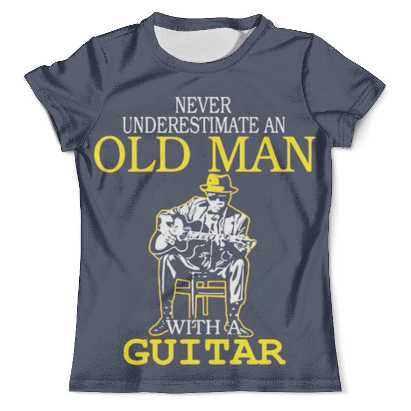 Футболка с полной запечаткой (мужская) Printio Old man guitar джемпер gerry weber gerry weber ge002ewbqwj4