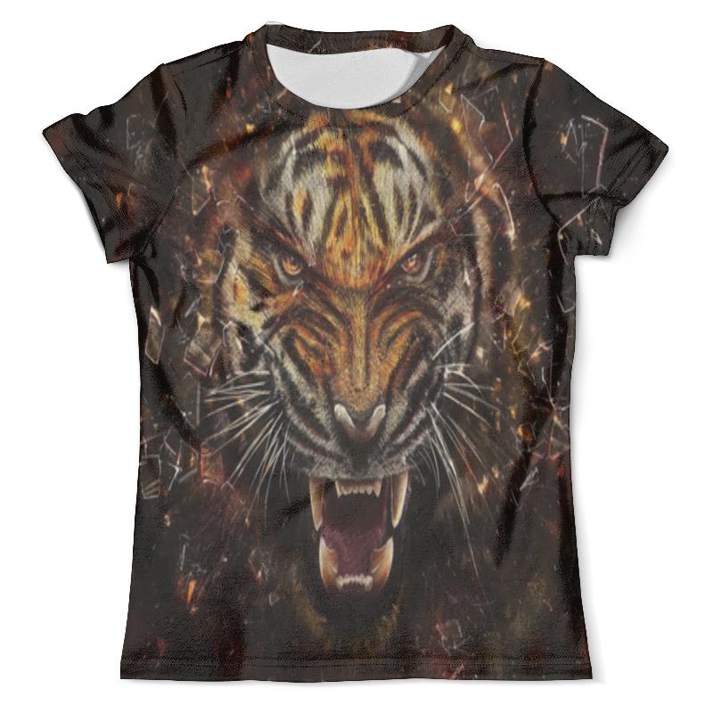 Футболка с полной запечаткой (мужская) Printio Яростный тигр футболка с полной запечаткой мужская printio красочный тигр