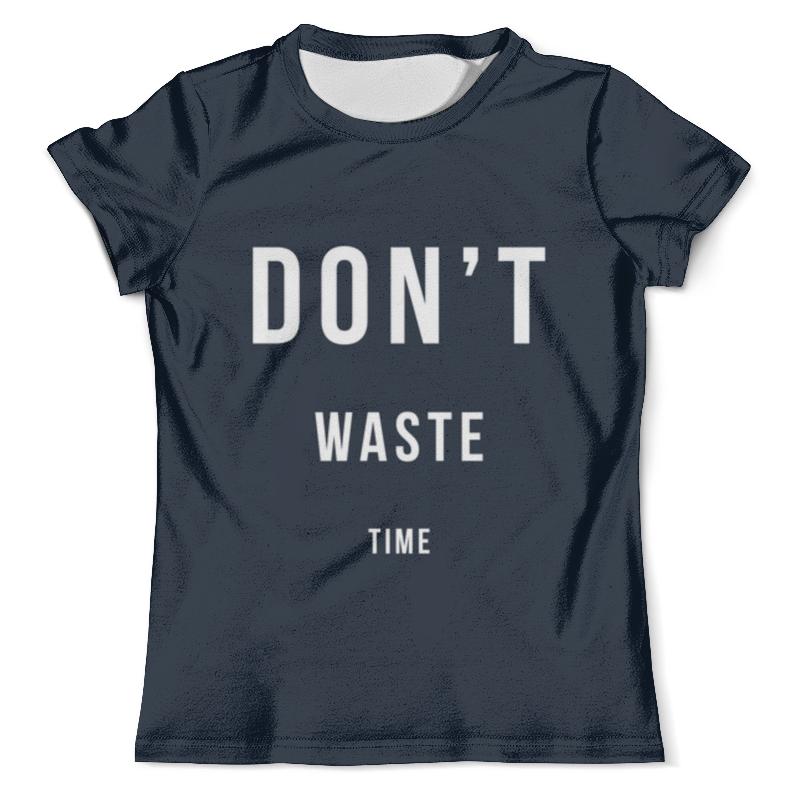 Футболка с полной запечаткой (мужская) Printio Don't waste time universal plastic garbage waste bag clip holder pair