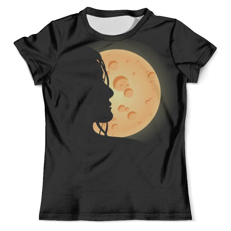 Футболка с полной запечаткой (мужская) Printio Look at the moon платье look at fashion цвет фиолетовый