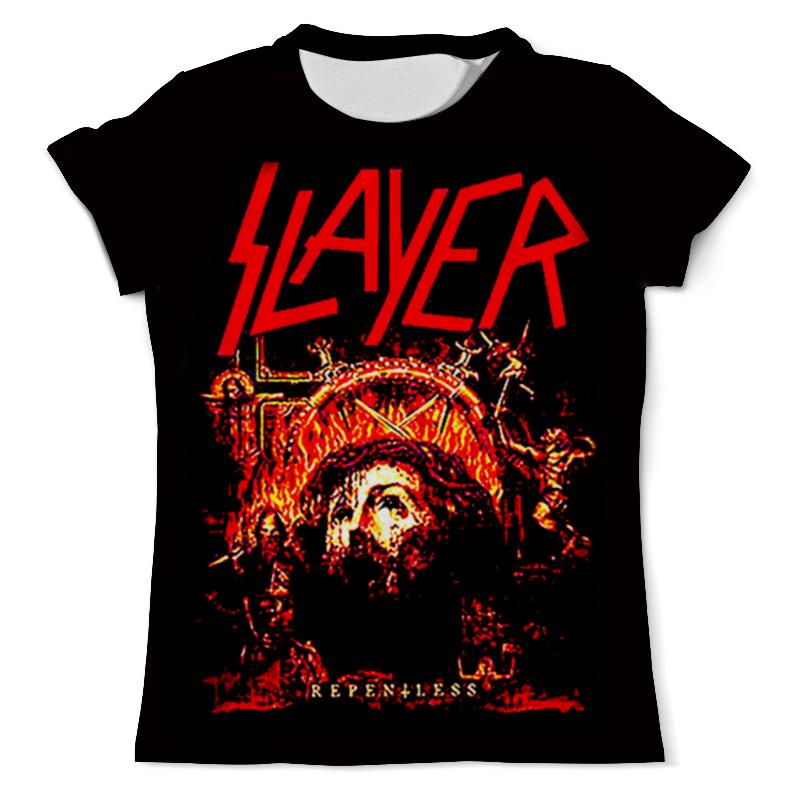 Футболка с полной запечаткой (мужская) Printio Slayer repentless 2015 цена