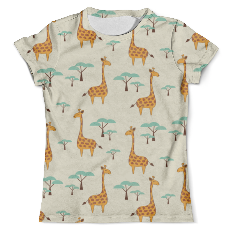 Футболка с полной запечаткой (мужская) Printio Жирафы футболка с полной запечаткой женская printio жирафы 1