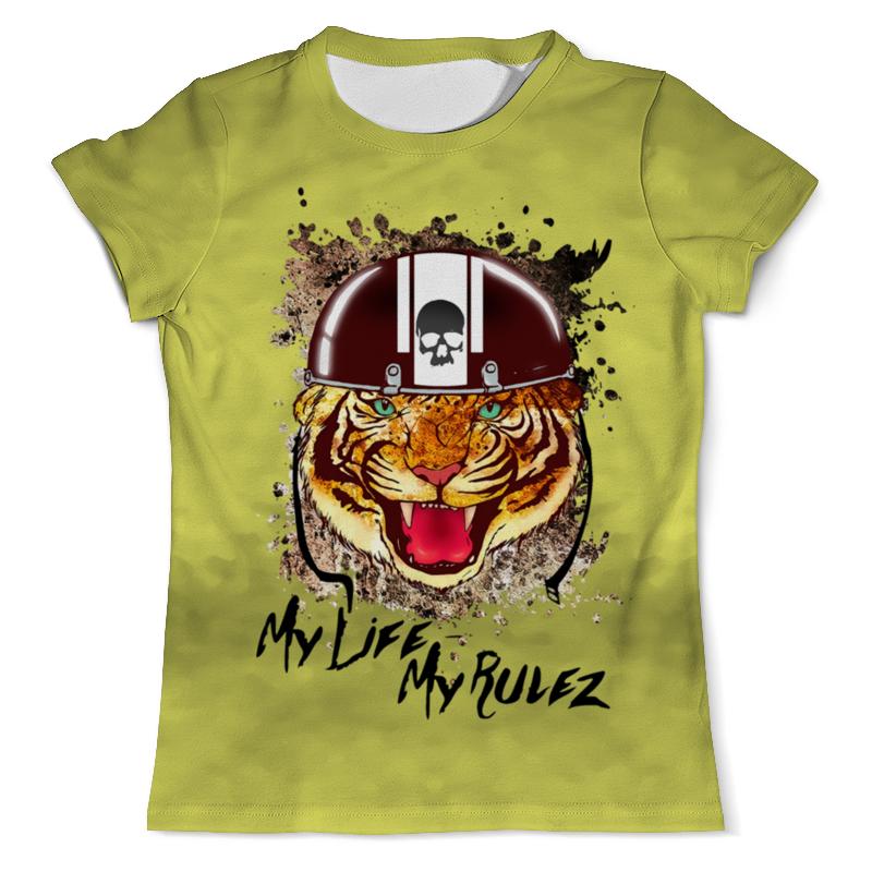 Футболка с полной запечаткой (мужская) Printio Тигр в каске футболка с полной запечаткой мужская printio тигр в каске