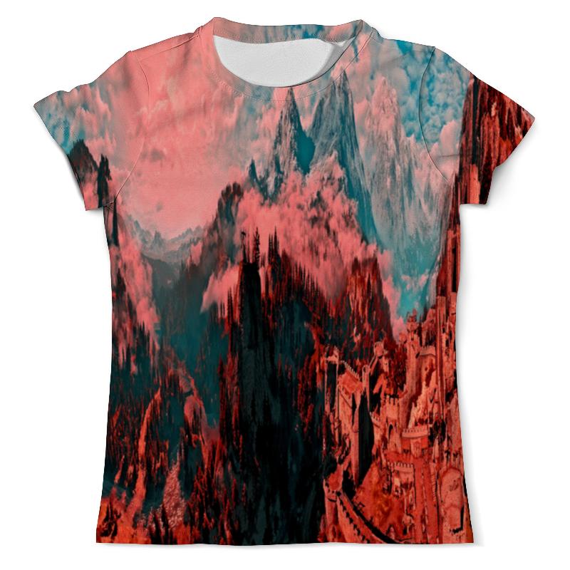 Printio Крепость в горах футболка с полной запечаткой женская printio крепость в горах