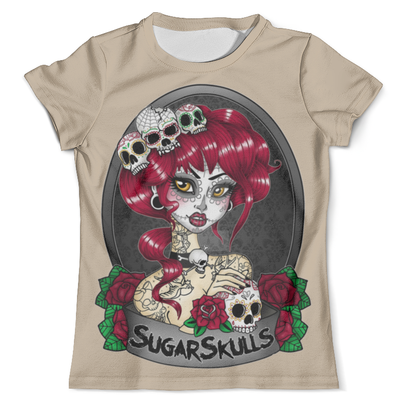 Футболка с полной запечаткой (мужская) Printio Sugar skull girl футболка print bar sugar box