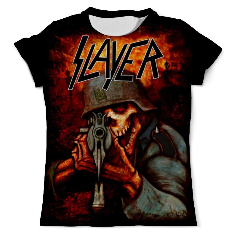 Printio Slayer band футболка с полной запечаткой для девочек printio slayer band