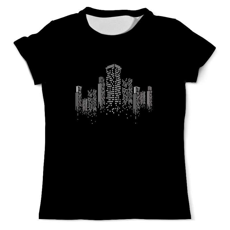 Футболка с полной запечаткой (мужская) Printio Огни ночного города. марина городничева восьмая луна сказки ночного города