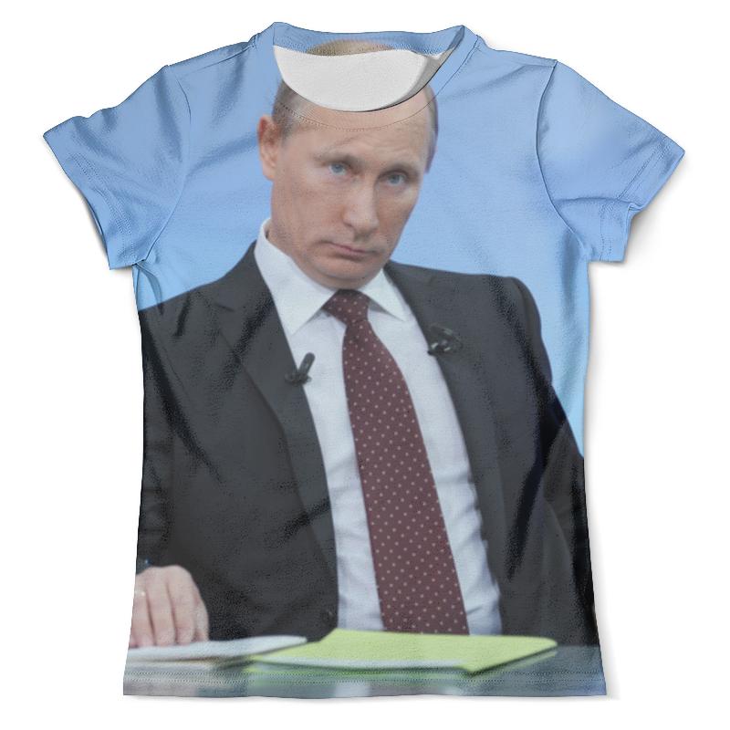 Футболка с полной запечаткой (мужская) Printio Президент путин футболка с полной запечаткой мужская printio путин casual collection