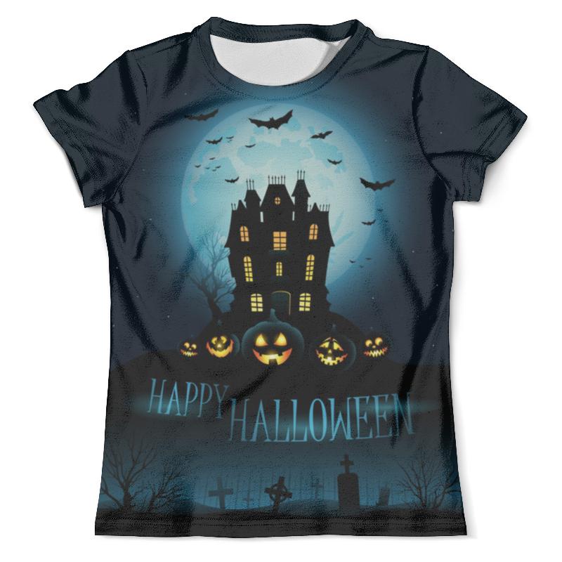 Футболка с полной запечаткой (мужская) Printio Хеллоуин / halloween halloween paper pumpkin candle lantern orange