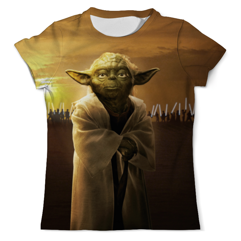 Футболка с полной запечаткой (мужская) Printio Звездные войны - йода футболка с полной запечаткой мужская printio магистр йода