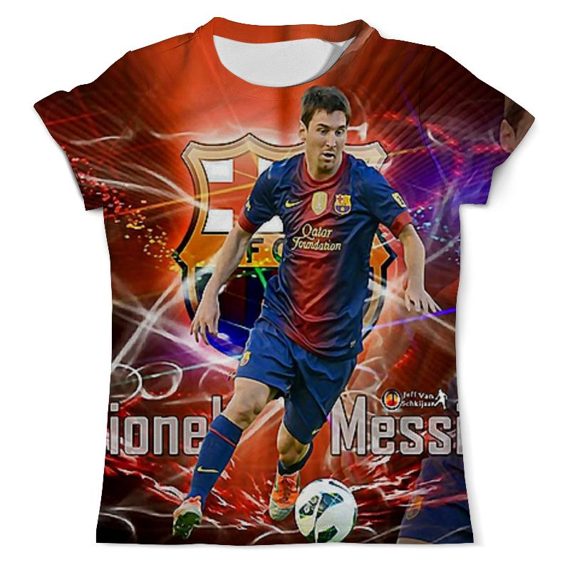 Футболка с полной запечаткой (мужская) Printio Лионель месси (1) цена и фото