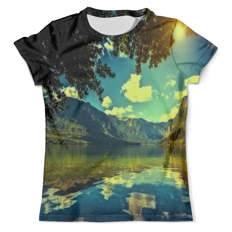 Футболка с полной запечаткой (мужская) Printio Горный пейзаж футболка с полной запечаткой мужская printio горный пейзаж