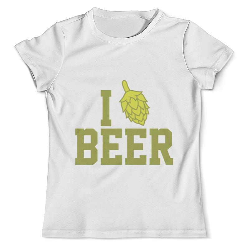 Футболка с полной запечаткой (мужская) Printio Я люблю пиво футболка с полной запечаткой мужская printio я тебя люблю арт