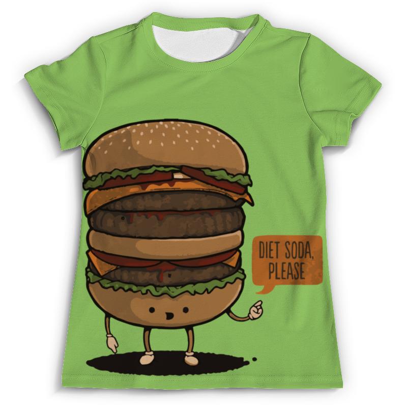 Футболка с полной запечаткой (мужская) Printio Diet burger / бургер фартук printio no diet
