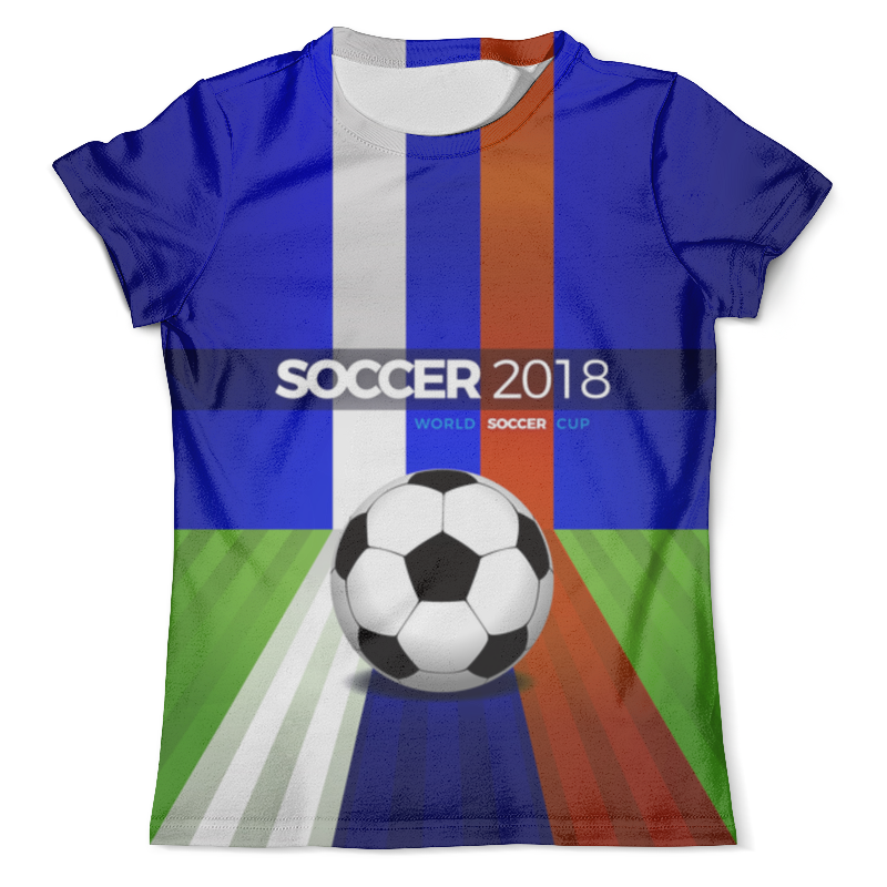 Футболка с полной запечаткой (мужская) Printio World cup 2018 (soccer ball) inflatable body suit human inflatable bumper bubble ball bubble soccer body zorbing ball 90cm grass zorb buddy bumper ball