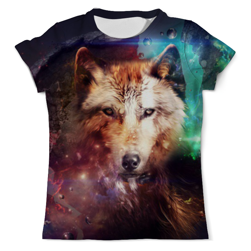 Футболка с полной запечаткой (мужская) Printio Волк (1) футболка с полной запечаткой мужская printio морской волк