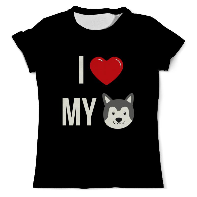 Футболка с полной запечаткой (мужская) Printio Я люблю свою собаку футболка с полной запечаткой мужская printio я тебя люблю арт