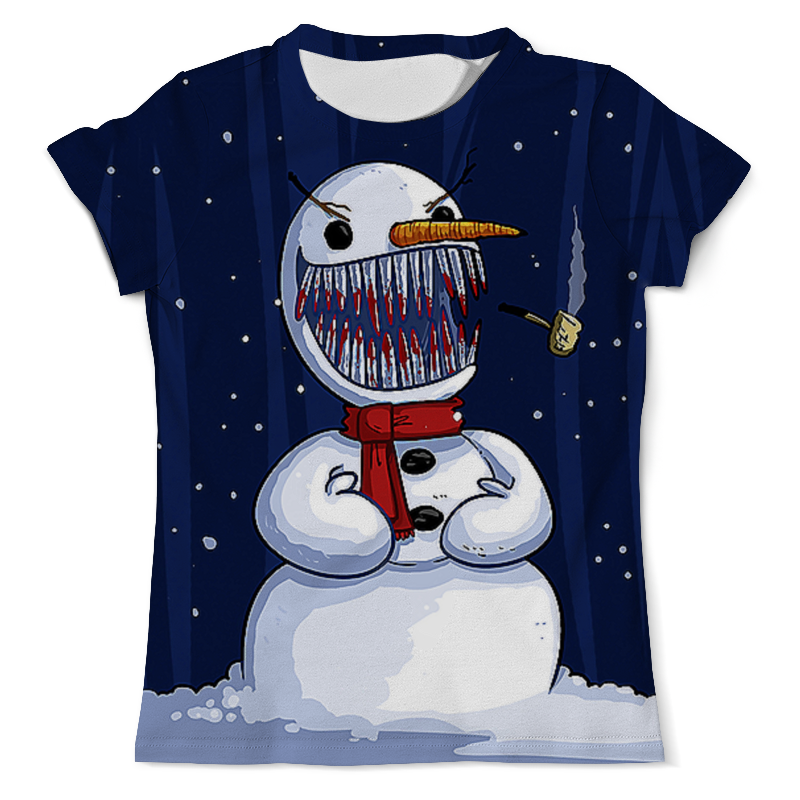 Printio Безумный снеговик футболка с полной запечаткой мужская printio счастливый снеговик