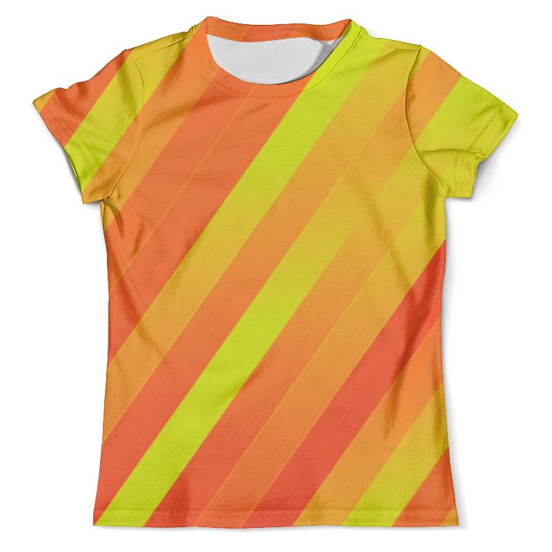 Футболка с полной запечаткой (мужская) Printio Желто-оранжевые линии футболка с полной запечаткой женская printio линии
