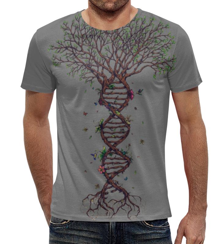 Футболка с полной запечаткой Printio Dna tree / древо днк dna solution structure dynamics