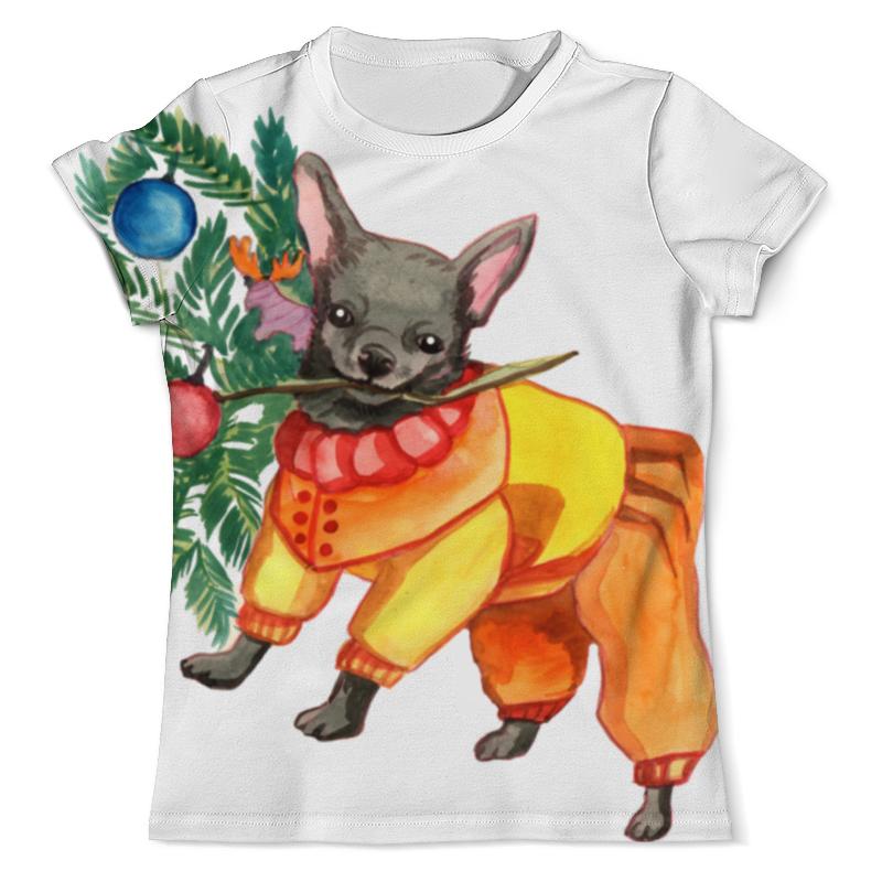 Футболка с полной запечаткой (мужская) Printio Акварельная новогодняя забавная собака рубашка поло с полной запечаткой printio акварельная новогодняя забавная собака