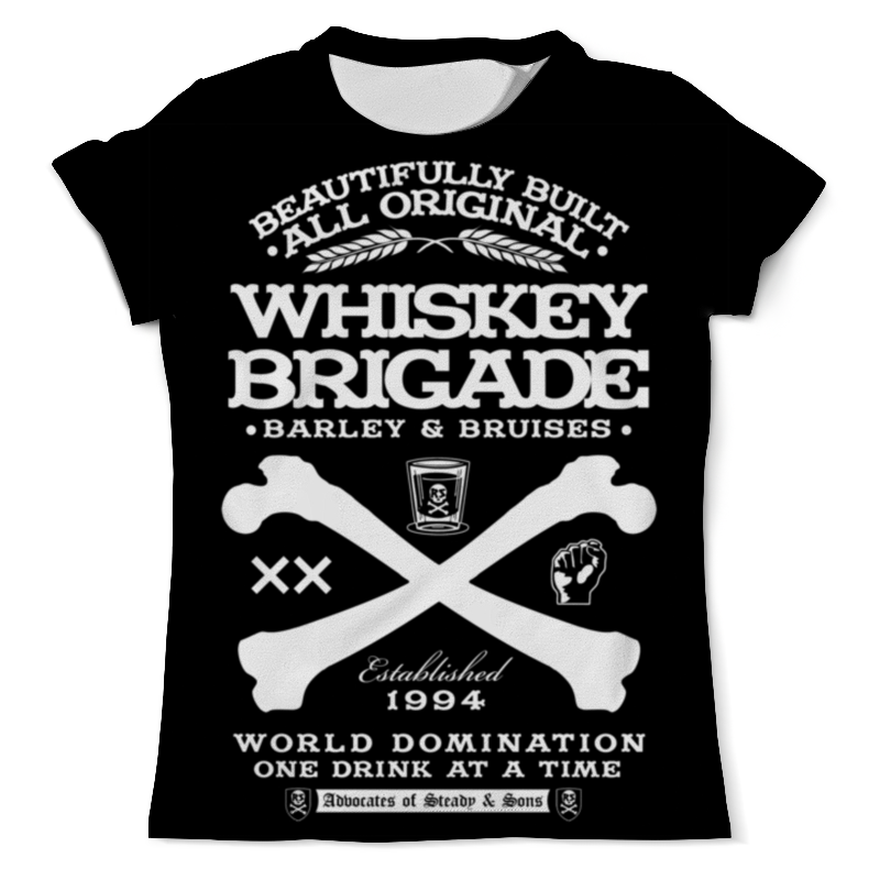Printio Whiskey brigade футболка с полной запечаткой мужская printio whiskey brigade