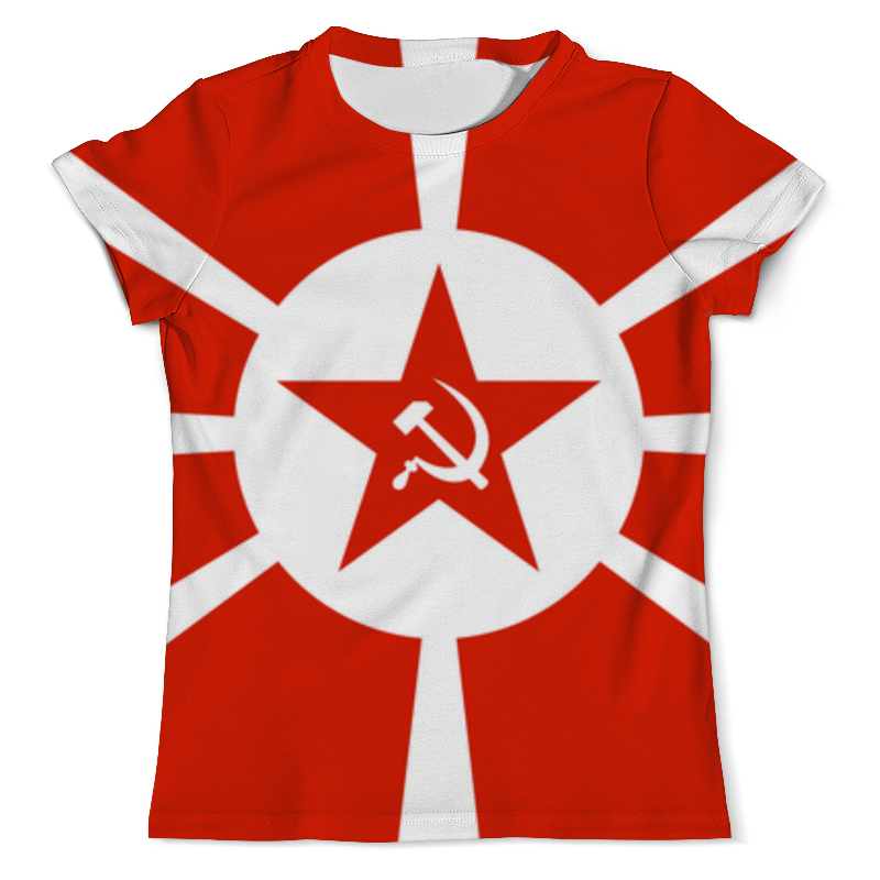Футболка с полной запечаткой (мужская) Printio Красная звезда футболка с полной запечаткой мужская printio красная шапочка и серый волк 3
