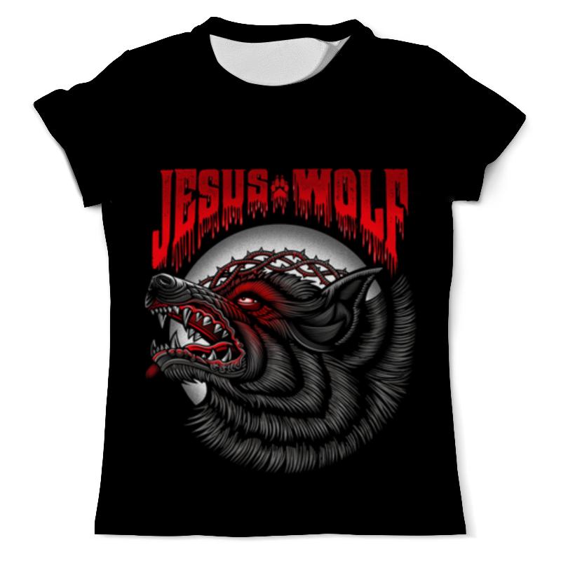 Футболка с полной запечаткой (мужская) Printio Jesus wolf jesus