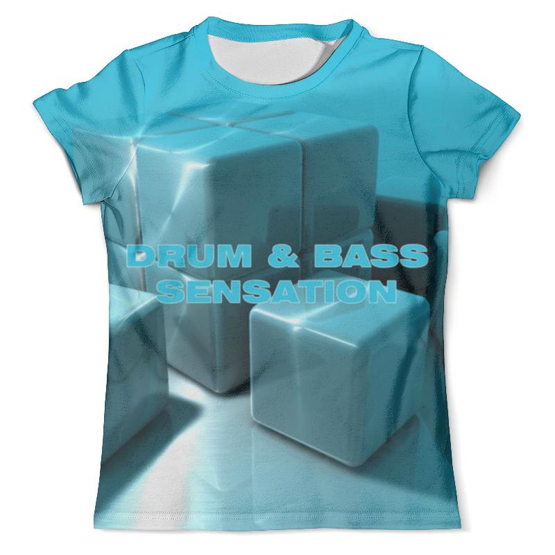 Футболка с полной запечаткой (мужская) Printio Drum and bass басовый пэд millenium e drum bass drum pad