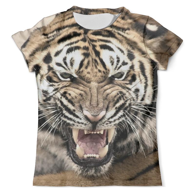 Футболка с полной запечаткой (мужская) Printio Уссурийский тигр 2 футболка с полной запечаткой мужская printio тигр и вода