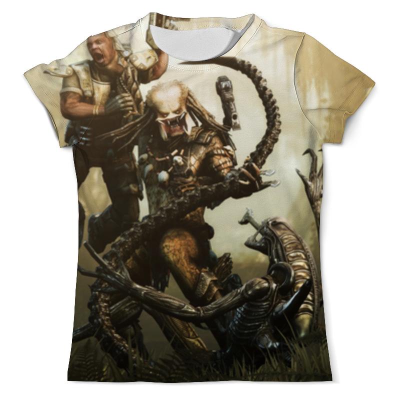 Printio Хищник против чужого футболка с полной запечаткой мужская printio хищник против чужого