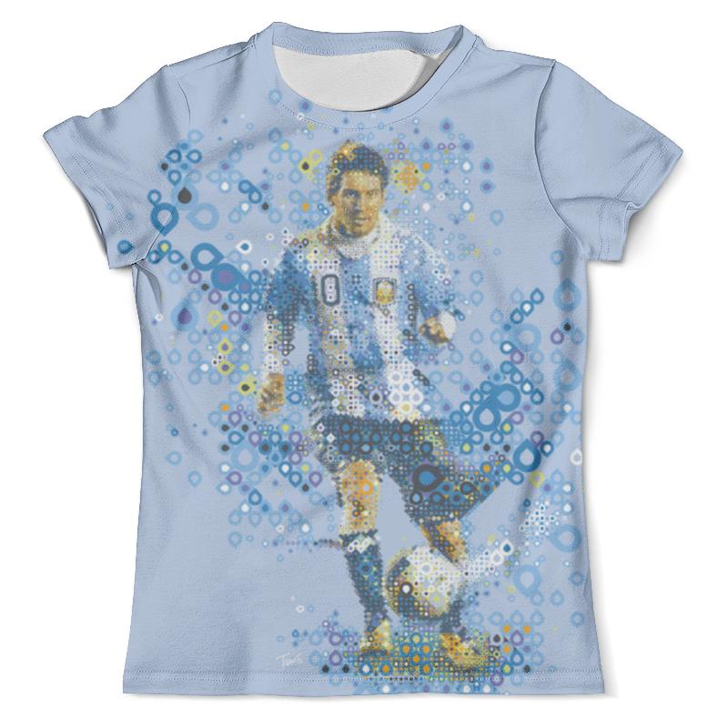 Футболка с полной запечаткой (мужская) Printio Месси футболка месси