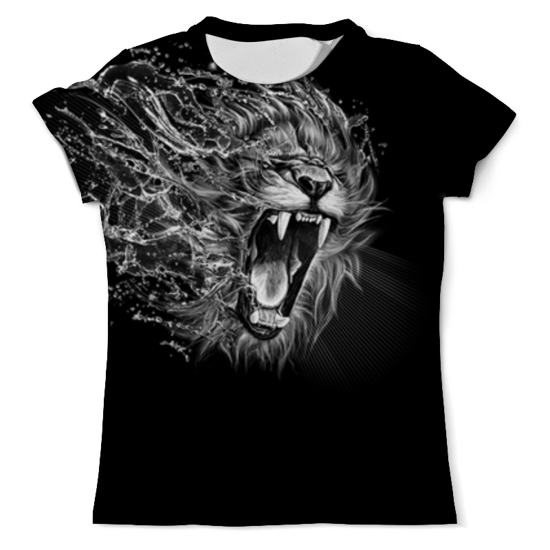 Футболка с полной запечаткой (мужская) Printio Lion (лев) свитшот унисекс с полной запечаткой printio лев lion