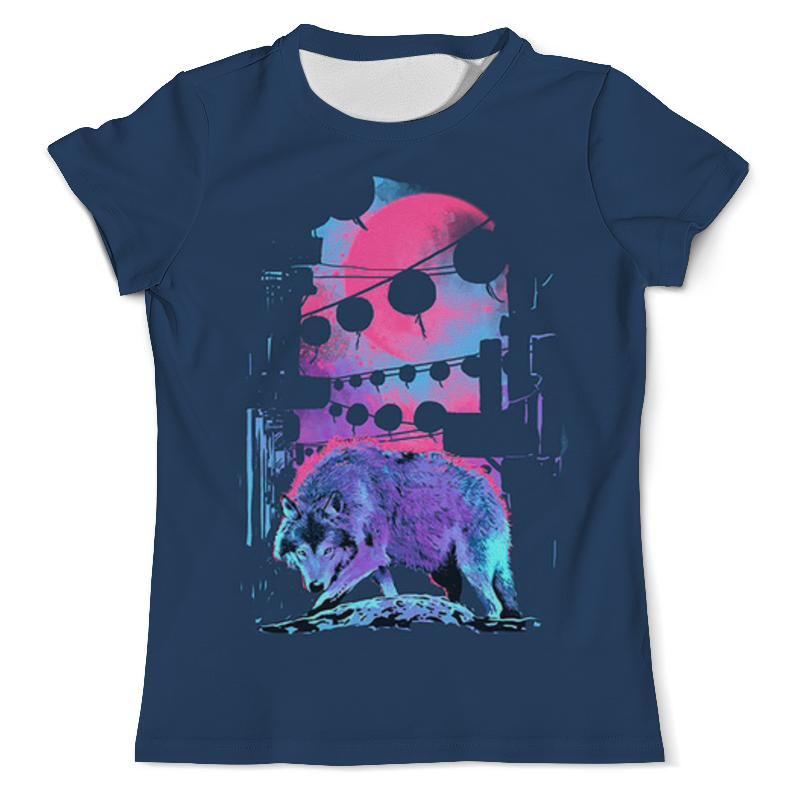 Футболка с полной запечаткой (мужская) Printio Волк футболка с полной запечаткой мужская printio морской волк