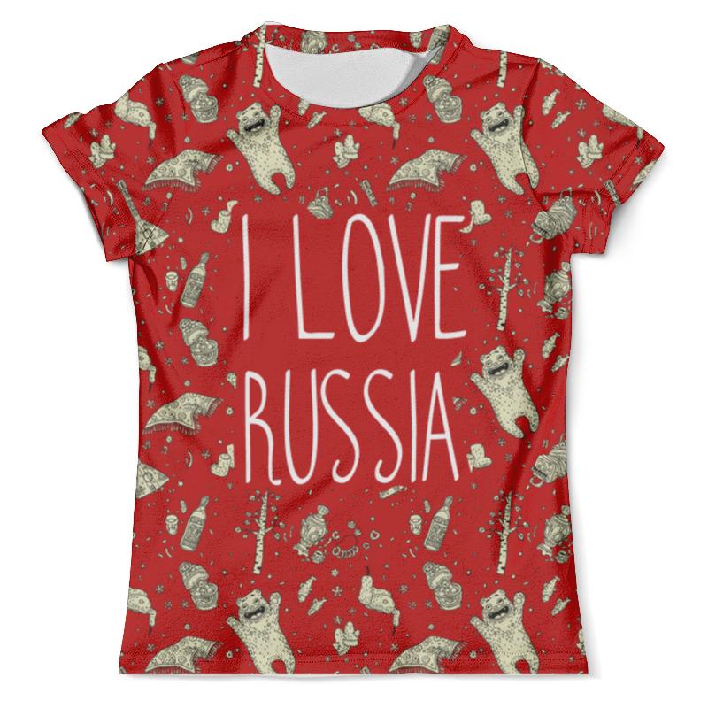 Футболка с полной запечаткой (мужская) Printio I love russia (я люблю россию) футболка с полной запечаткой для мальчиков printio i love russia я люблю россию