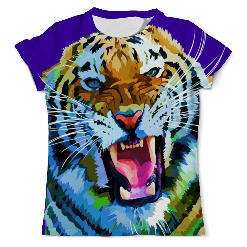 Футболка с полной запечаткой (мужская) Printio Амурский тигр цена и фото