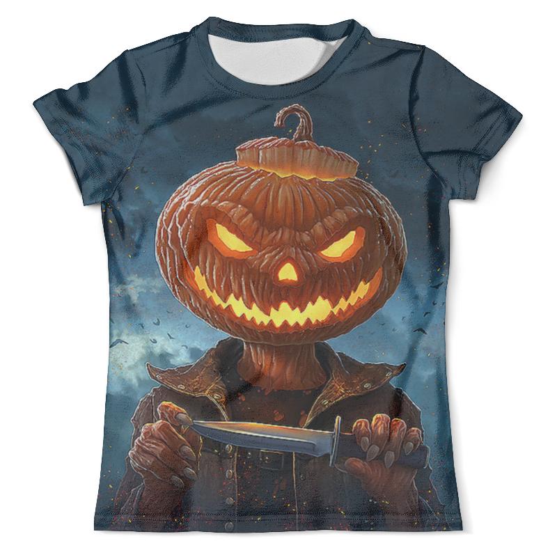 Футболка с полной запечаткой (мужская) Printio Pumpkin head (helloween)