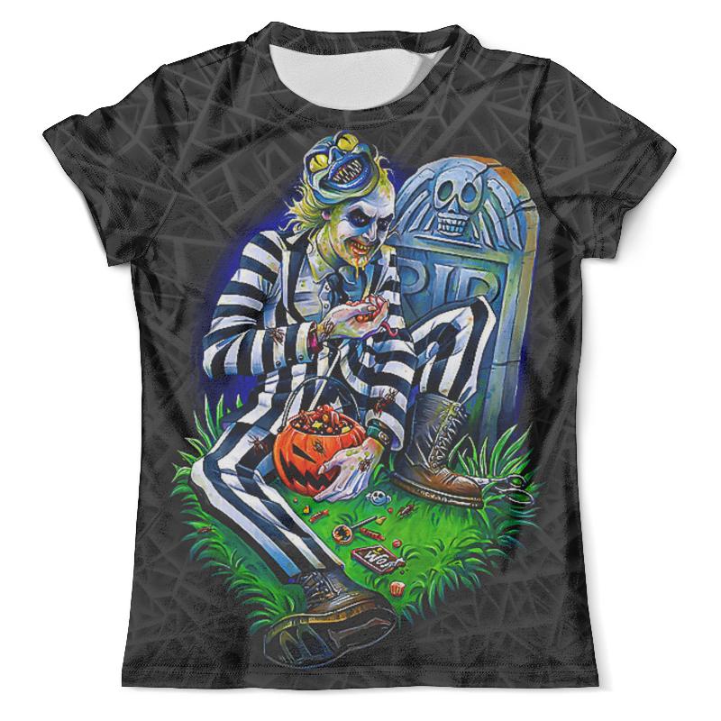 Футболка с полной запечаткой (мужская) Printio Beetlejuice (halloween) футболка с полной запечаткой мужская printio the mask vs beetlejuice 1