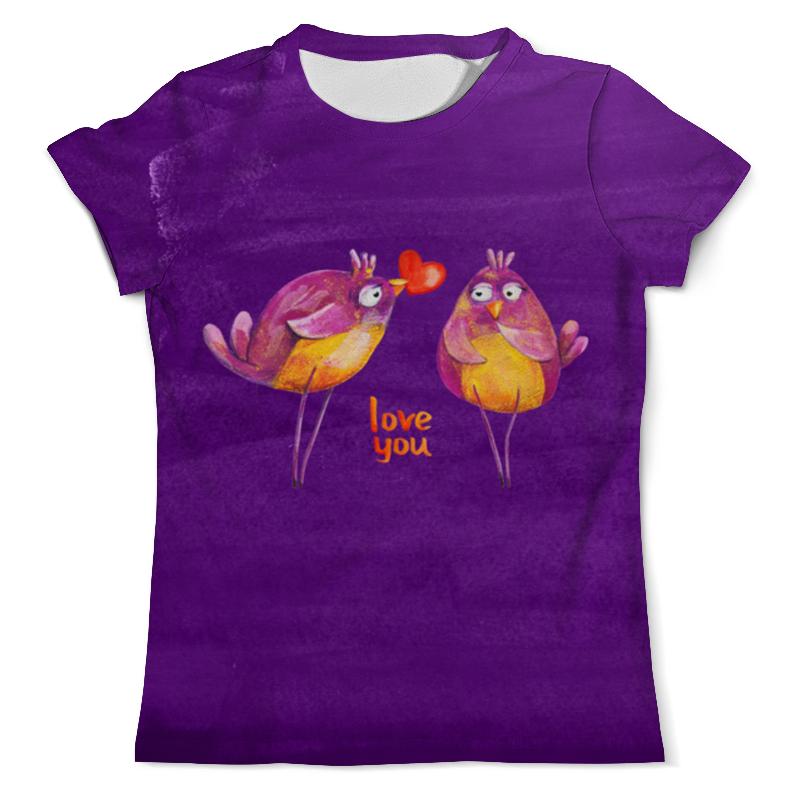 Футболка с полной запечаткой (мужская) Printio Влюбленные птички. парные футболки. футболка с полной запечаткой для девочек printio влюбленные мишки тедди парные футболки