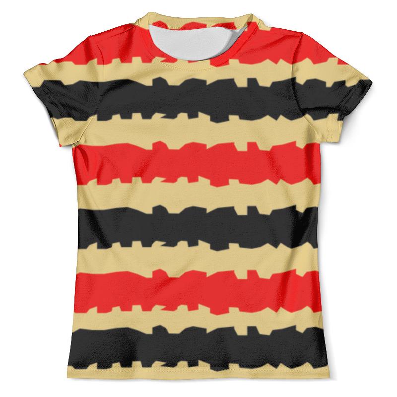 Футболка с полной запечаткой (мужская) Printio Полоски с рванными краями футболка с полной запечаткой женская printio полоски с рванными краями