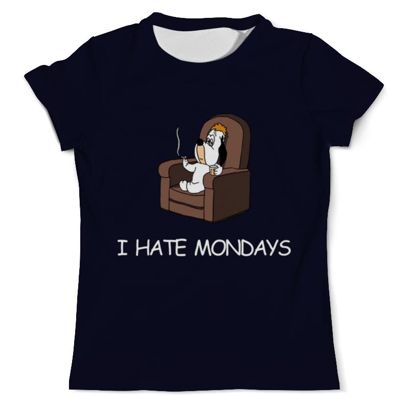 Printio I hate mondays футболка с полной запечаткой женская printio i hate christmas