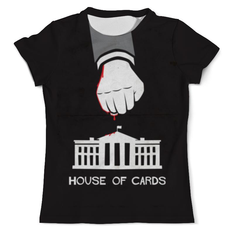 Футболка с полной запечаткой (мужская) Printio House of cards цена