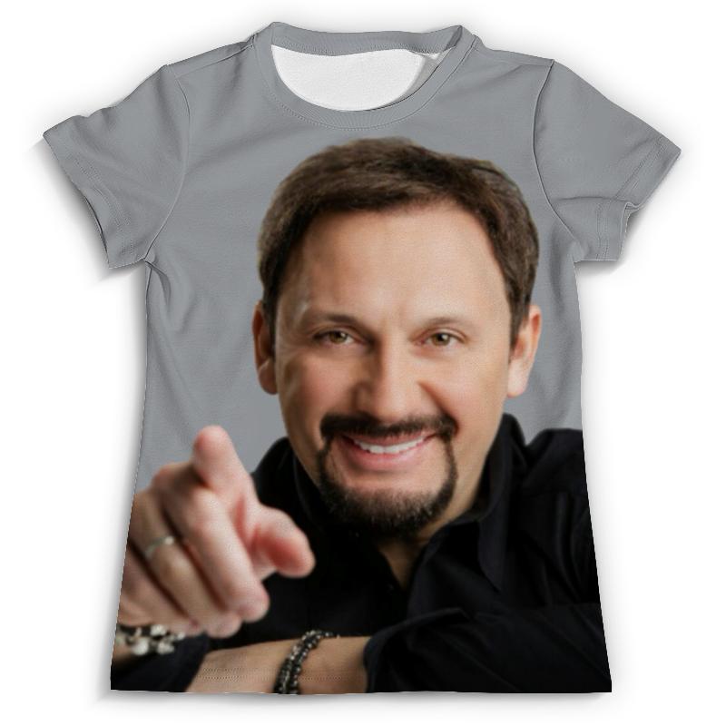 Футболка с полной запечаткой Printio Стас михайлов. в черной рубашке. очень красивый!