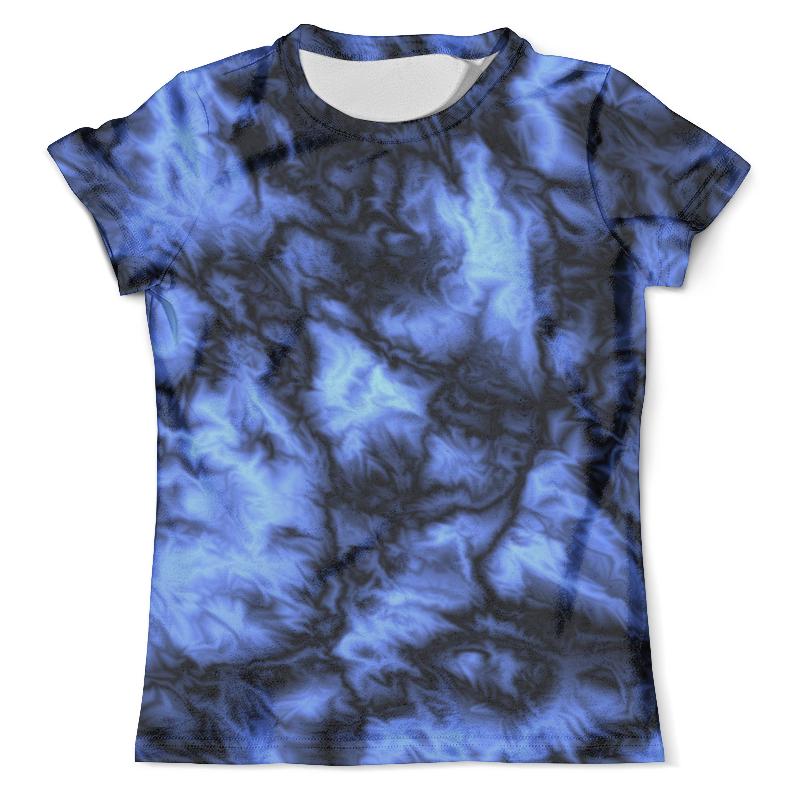 Футболка с полной запечаткой (мужская) Printio Синяя текстура футболка мужская отелло темно синяя