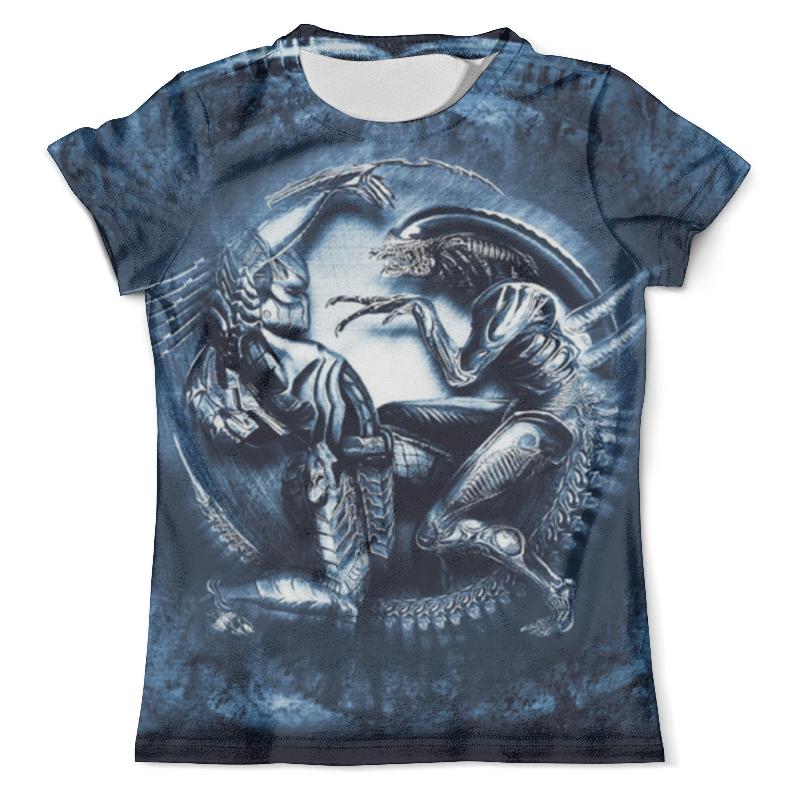 Футболка с полной запечаткой (мужская) Printio Чужой против хищника / alien vs predator футболка с полной запечаткой для девочек printio чужой против хищника alien vs predator